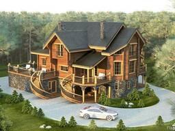 Гостивые дома из Архангельской сосны под ключ 200-1500м2