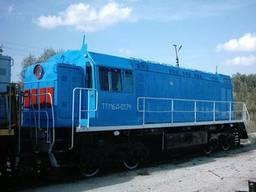 Náhradní díly pro kolejová zařízení, dieselové lokomotivy, motorové vozy, železniční jeřáb