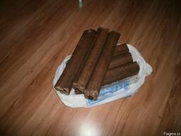 Wood pellets and briquettes